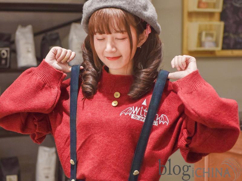 Áo len tay bèo đáng yêu